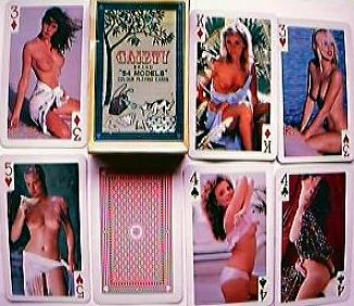 "Vintage ""GIRLIE"" Playing Cards Gaiety Brand ""54 MODELS"""