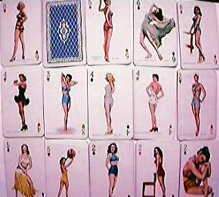 "Vintage ""Hollywood Stars"" Mini Playing Cards Circa  Late1940's"