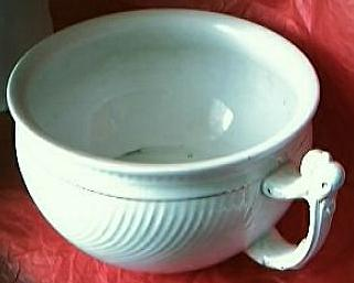 "Victorian Porcelain Art Nouveau Chamber Pot Or ""Potty"""