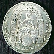 1901 State of Queensland Australian Federation Silver Medalet