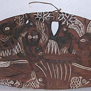 Papua New Guinea Carved Wooden Story Board