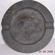 Antique Pewter Ashtray HMS Royal Clarence