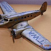 Vintage TWA Airlines Toy Push Plane NC 223Y
