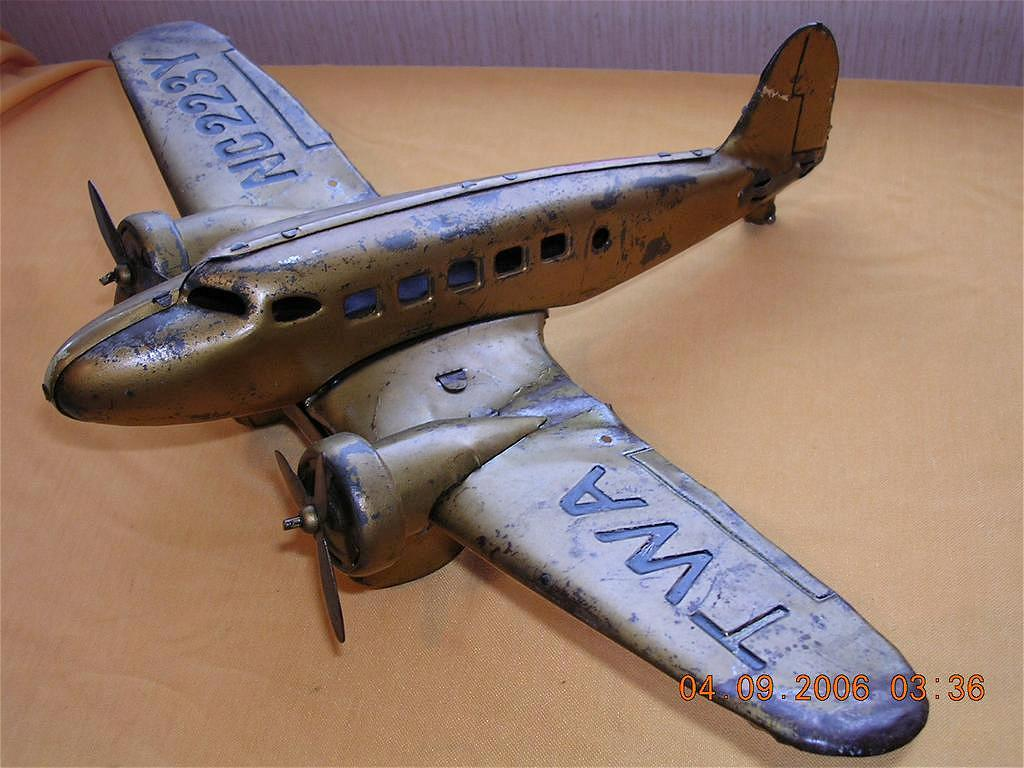 Vintage TWA Airlines Toy Push Plane NC 223Y