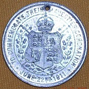 1911 Commemorative Medallion Coronation King George V