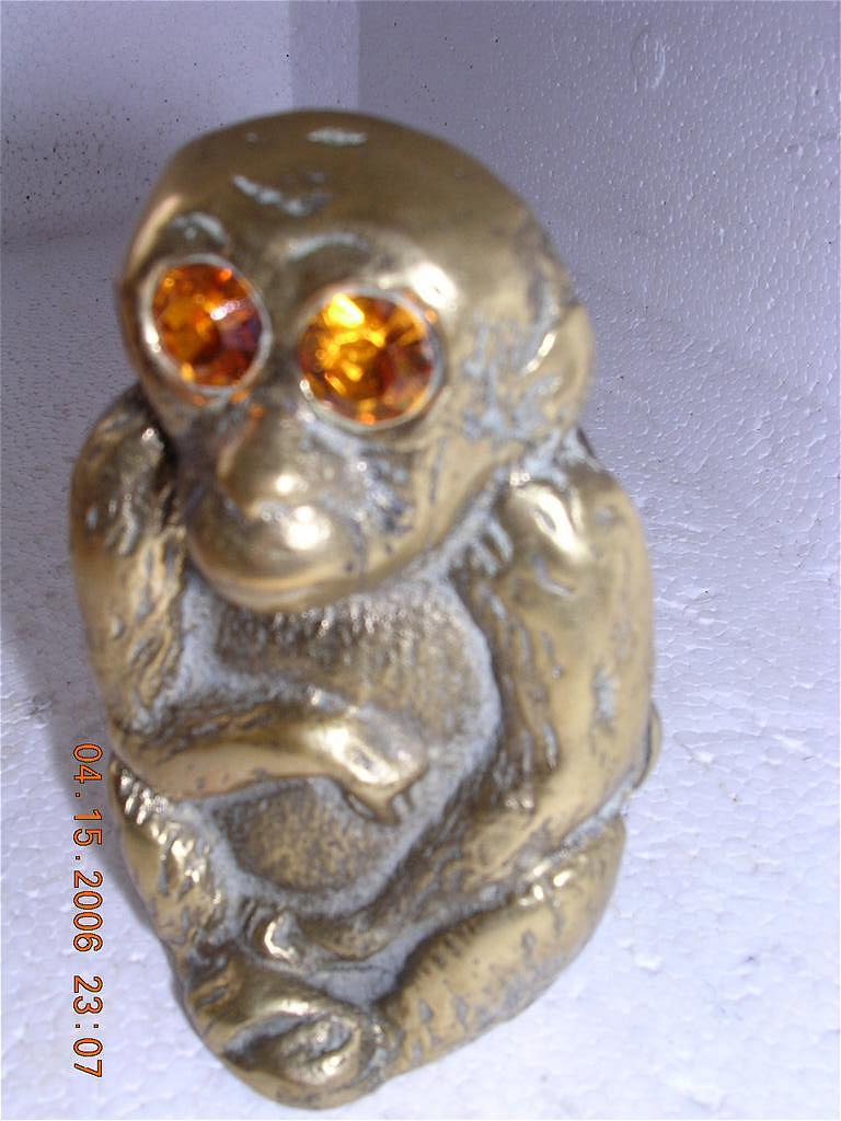 Vintage Brass Monkey Vesta Holder Circa 1900