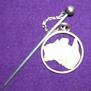 Australian 9 Carat Gold Commonwealth Stick Pin Brooch