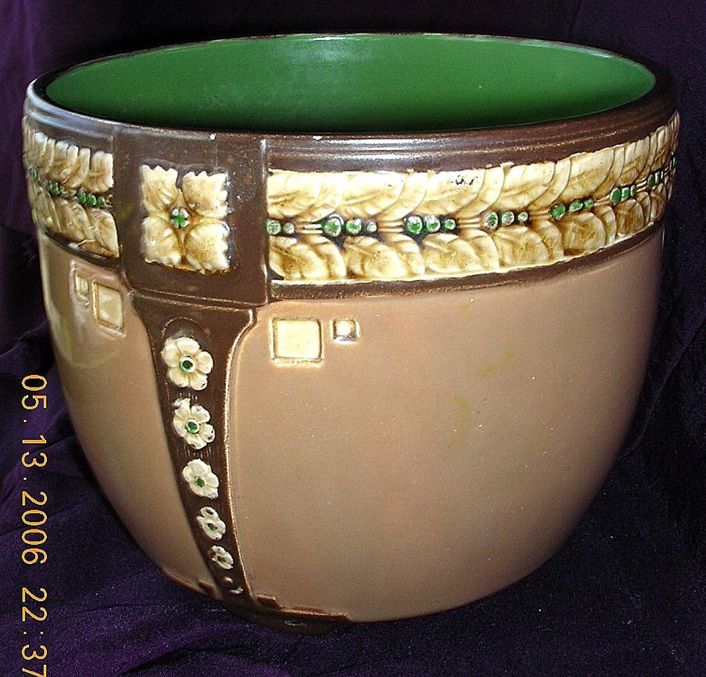English Edwardian Pottery Jardiniere
