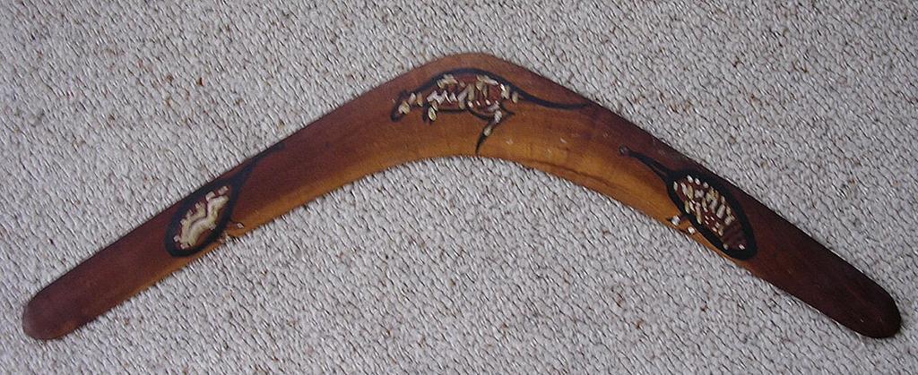 "Vintage Australian Aboriginal "" Straits Islanders"" Boomerang"