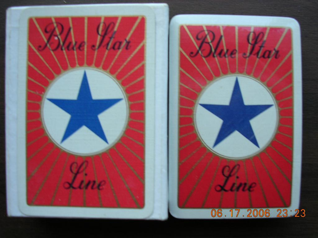 Vintage  BLUE STAR Line Shipping Playing Cards