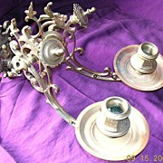 """Large  Victorian """"PHARO"""" Candle Sconce"""