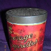 Rare Vintage PEERAGE Cigarettes Drum Tin