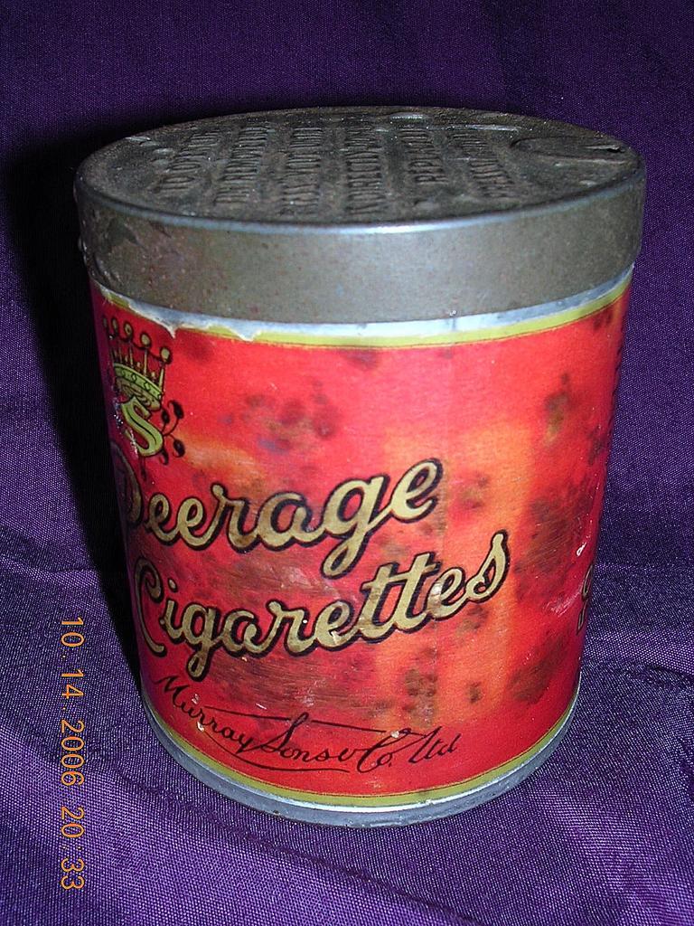 Rare Vintage Peerage Cigarettes Drum Tin From Molotov On