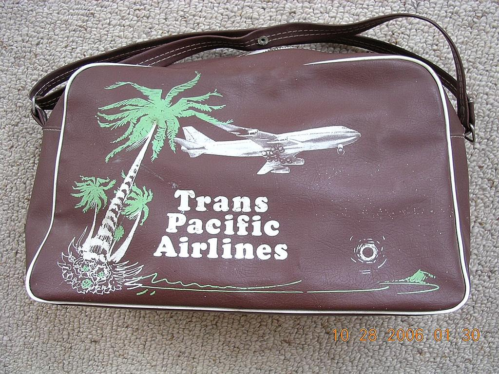 Vintage Trans Pacific Airlines - TPA -  (Hawaii) Cabin Bag