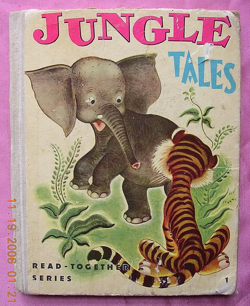 "1947 Vintage Children's Book ""JUNGLE TALES"""