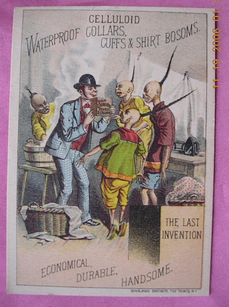 Victorian Racist Advertising Trade Card Quot Celluloid