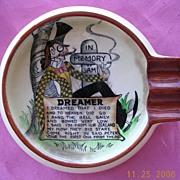 """Rare Little Carltonware """"In Memory Of Sam - Dreamer"""" Ashtray"""