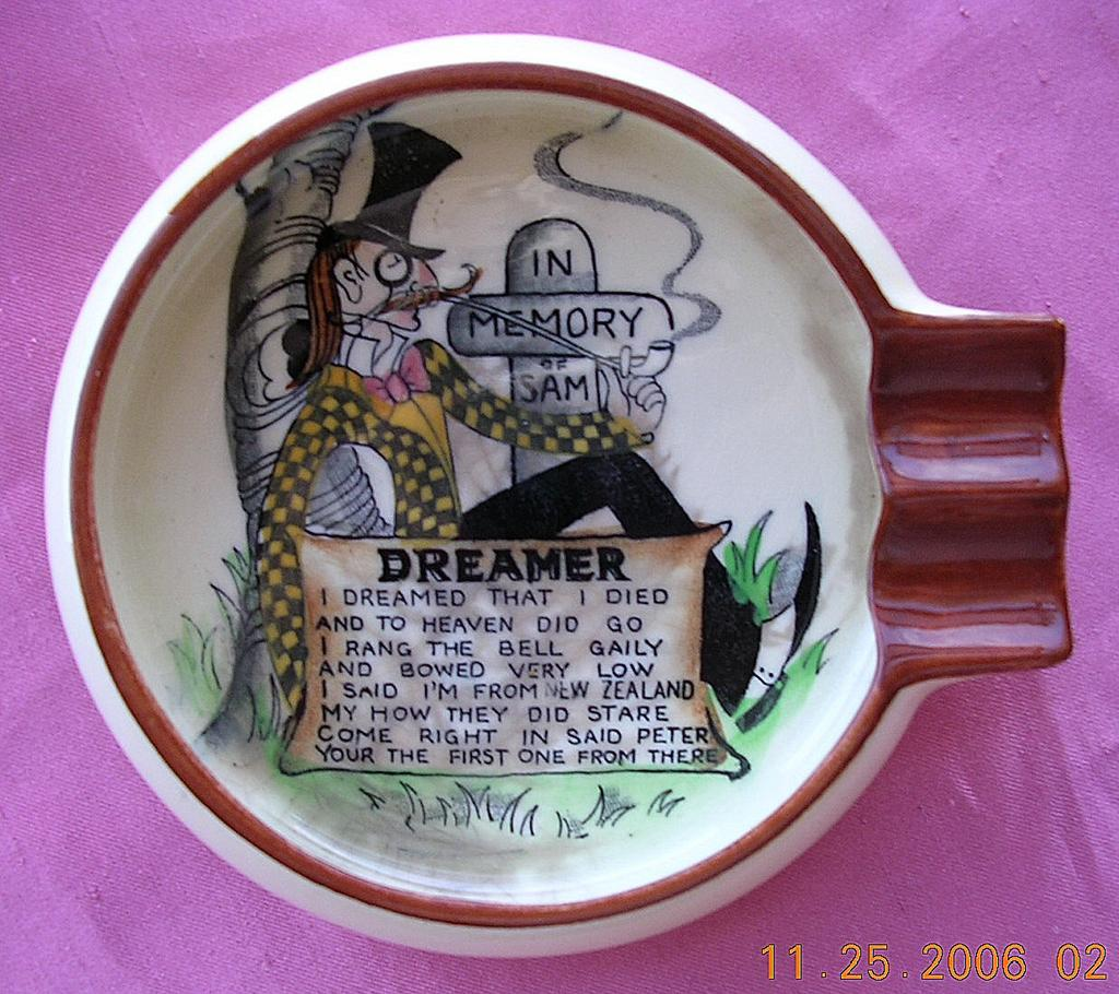 "Rare Little Carltonware ""In Memory Of Sam - Dreamer"" Ashtray"