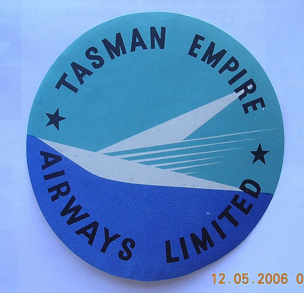 Rare TEAL AIRWAYS Vintage Baggage Sticker