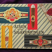 Vintage Dutch CIGAR BAND Album  - Willem 11 brands Dated 1959