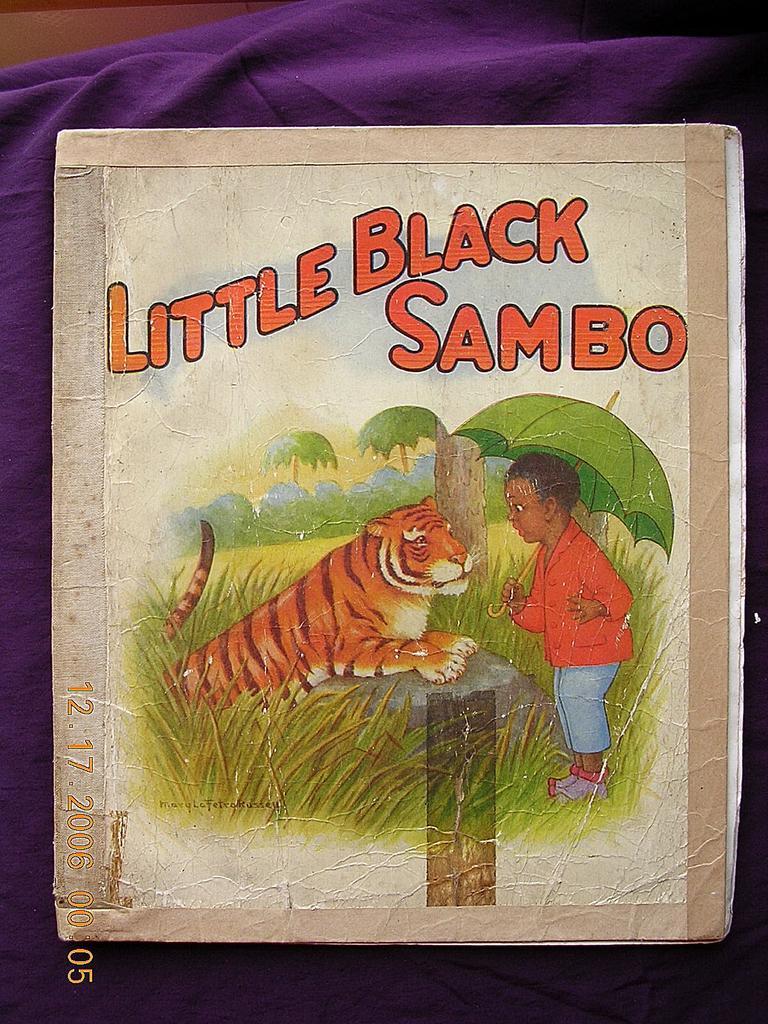 Vintage Little Black Sambo Large Version Circa 1930 S