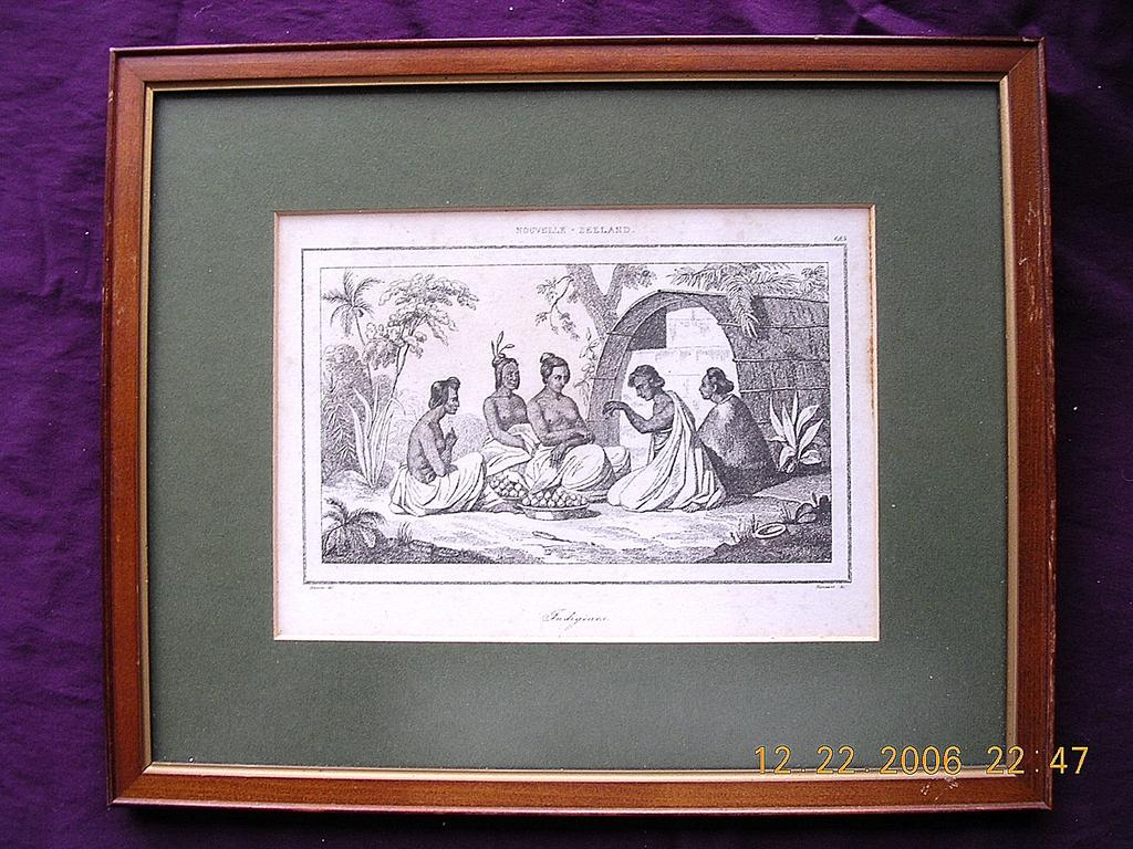 French Early 19th Century Engraving Nouvelle Zeeland