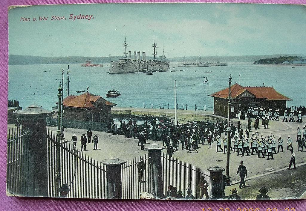 "Vintage Postcard ""Man O War Steps Sydney"" Circa 1910 -1915"