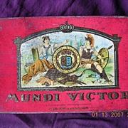 "Vintage Mundi Victor Dutch Cigar Tin ""10 Sigaren Verona"""
