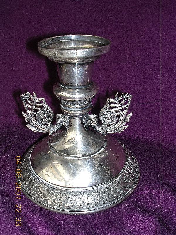 Vintage MERIDIAN Plated Art Nouveau Candle Stick