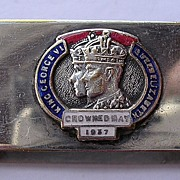 1937 Souvenir Napkin Ring 'Coronation George V1""