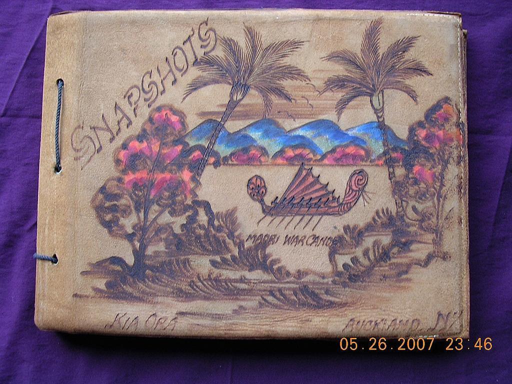 Kia Ora,  Maori Souvenir Snapshots Suede Folder