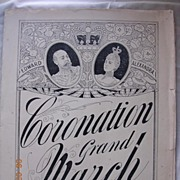 Vintage Sheet Music Coronation Grand March  1901