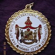 1979 PAN AM Medallion For Hawaii International Rugby Tournament