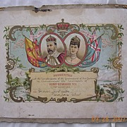 KING EDWARD V11 Coronation Certificate 1902