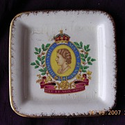 Staffordshire Porcelain Queen Elizabeth Coronation Pin Dish