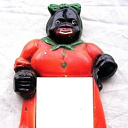 Vintage BLACK MAMMY Plaster Note Pad Holder