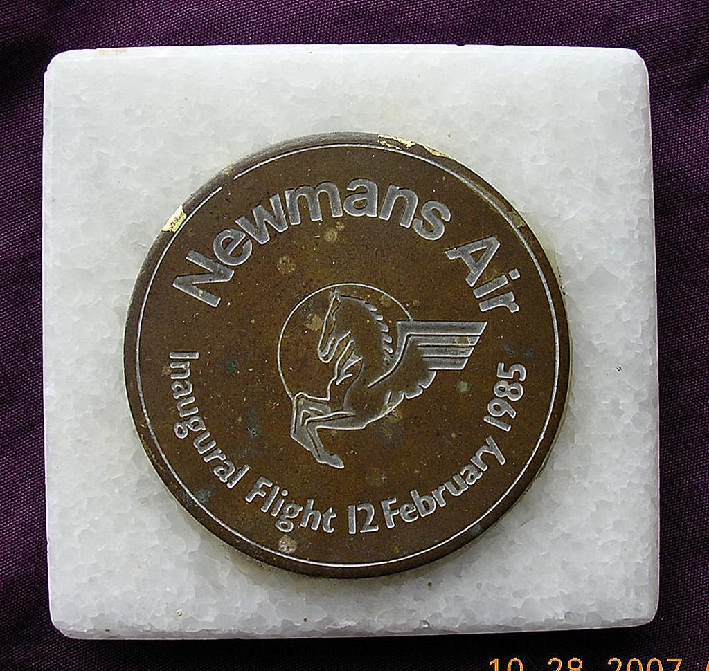 NEWMANS AIR Inaugural Flight Paper Weight 1985