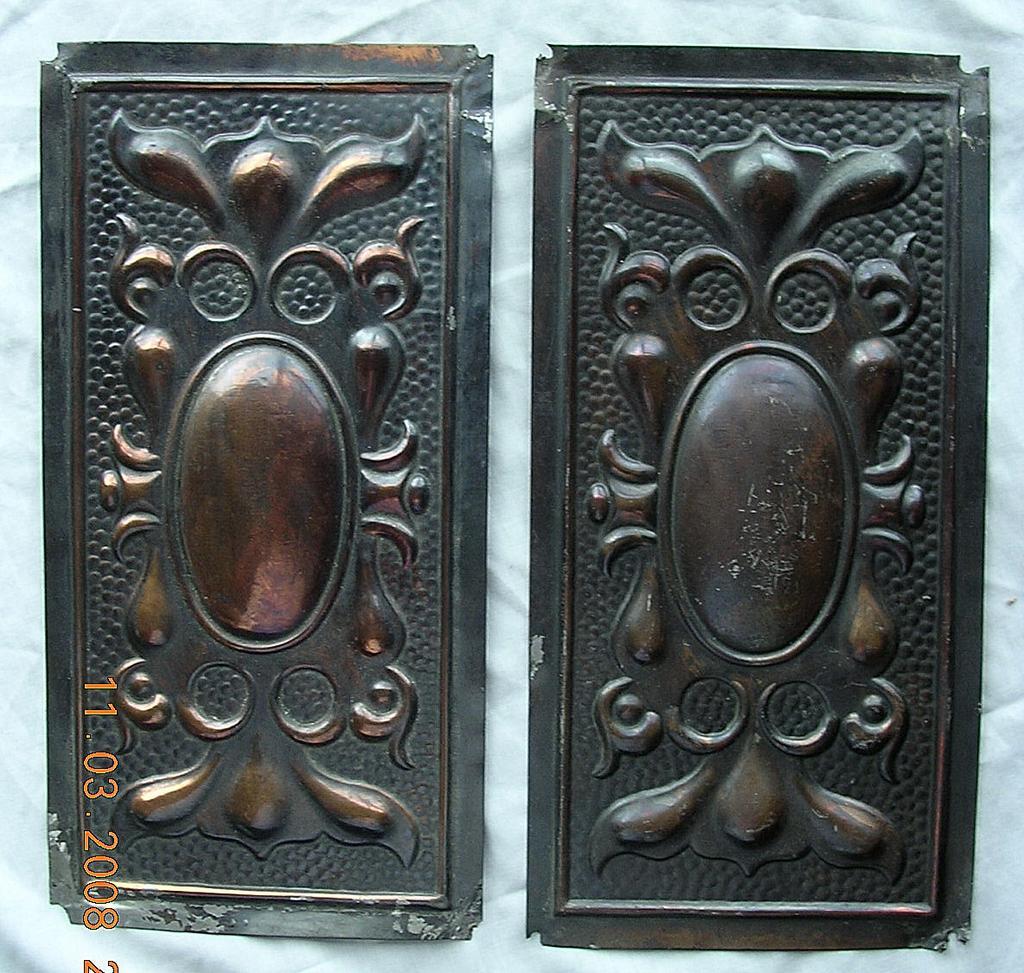 Victorian Art Nouveau Door Push Plates - Victorian Art Nouveau Door Push Plates From Molotov On Ruby Lane