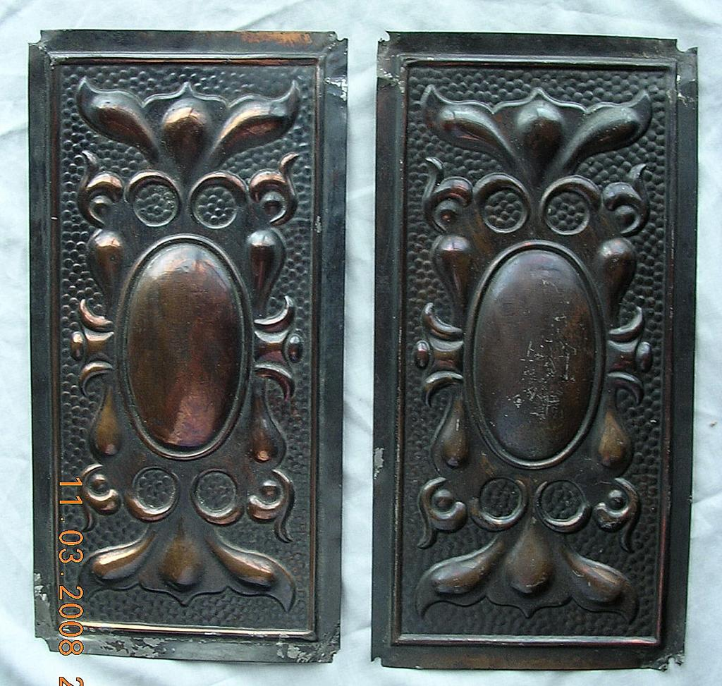Victorian Art Nouveau Door Push Plates