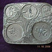 Edwardian Period Nickle Plated Coin Holder J.W.B.Patent