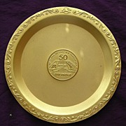 Vintage AIR INDIA Commemorative 50 Year Dish