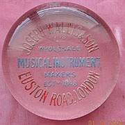 Victorian Era Advertising Paperweight Joseph Wallis & Sons