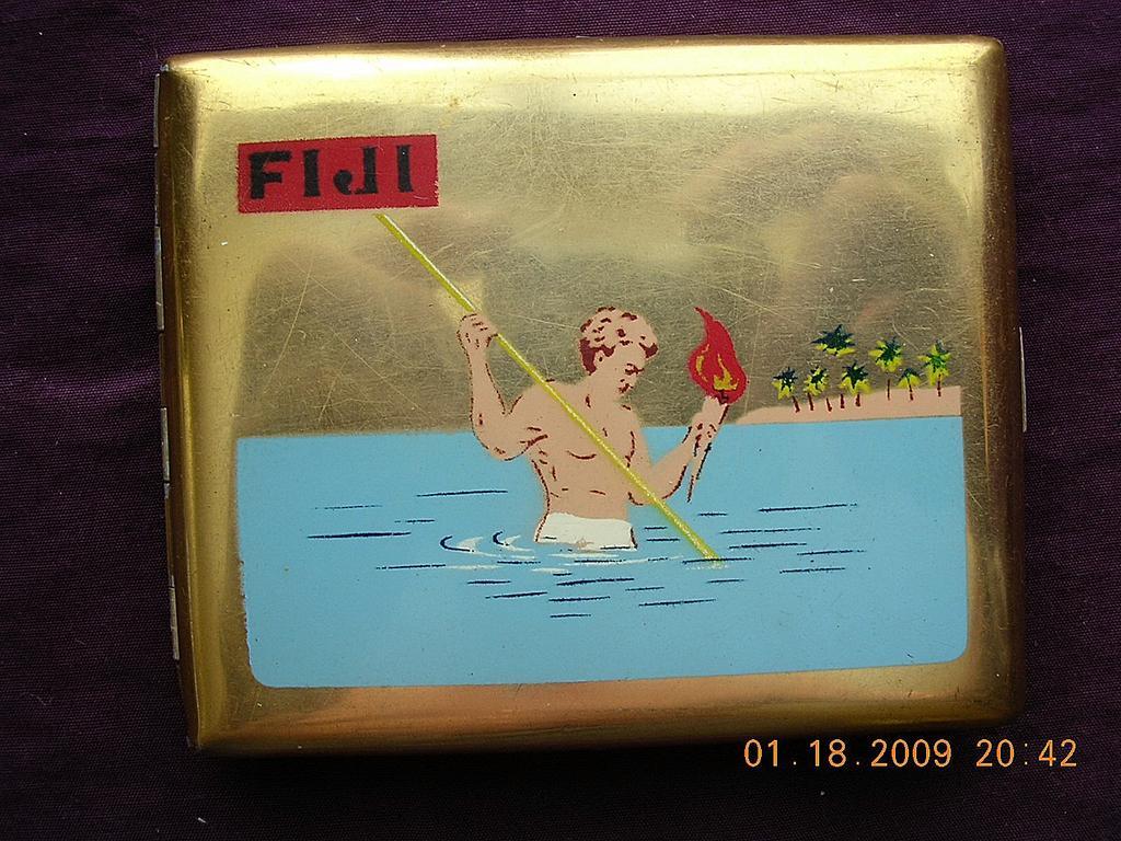 Vintage Fiji Souvenir Cigarette Case