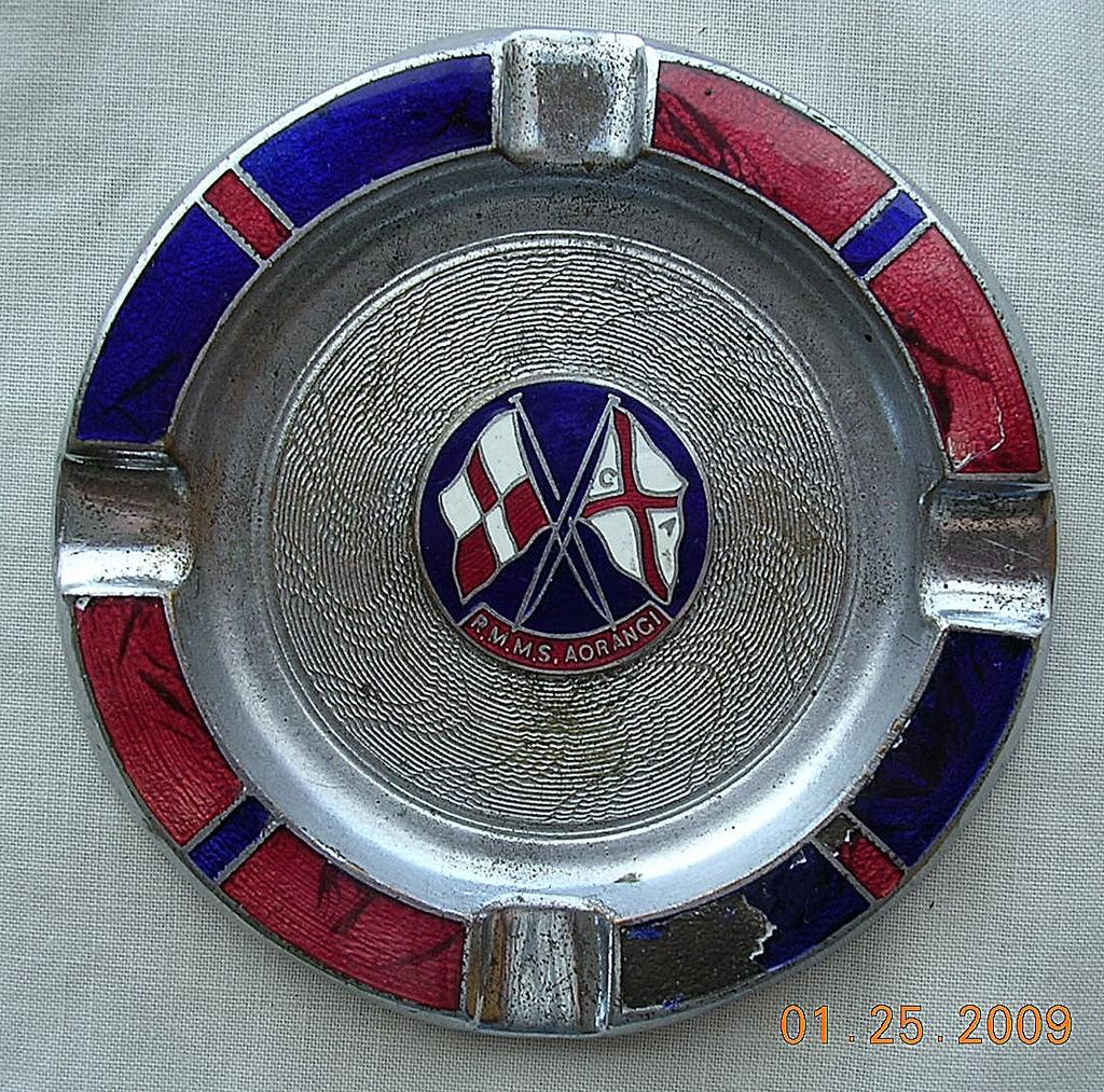 Vintage R.M.M.S. Aorangi Souvenir Shipping Ashtray