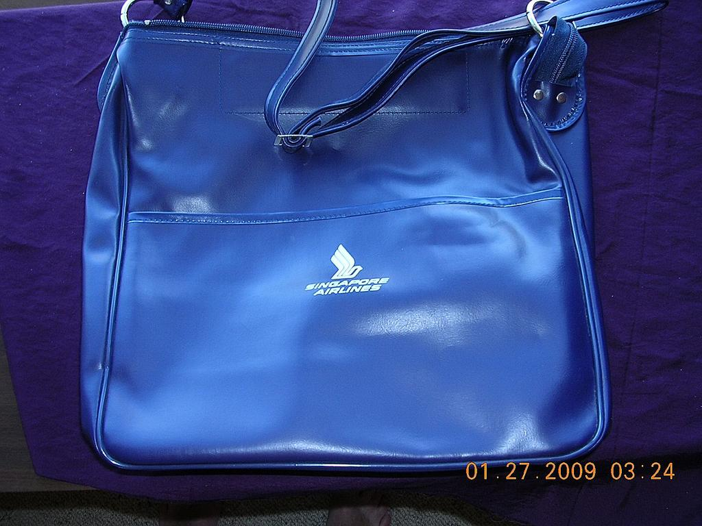 Singapore Airlines First Class Leatherette Cabin Bag