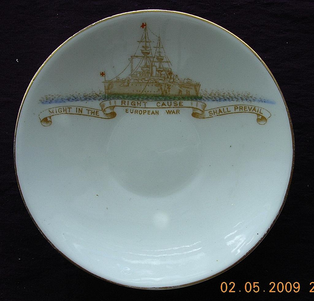 World War One Patriotic Saucer
