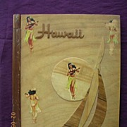 HAWAIIAN Vintage Wooden Photograph Albumn Cover Circa 1940's
