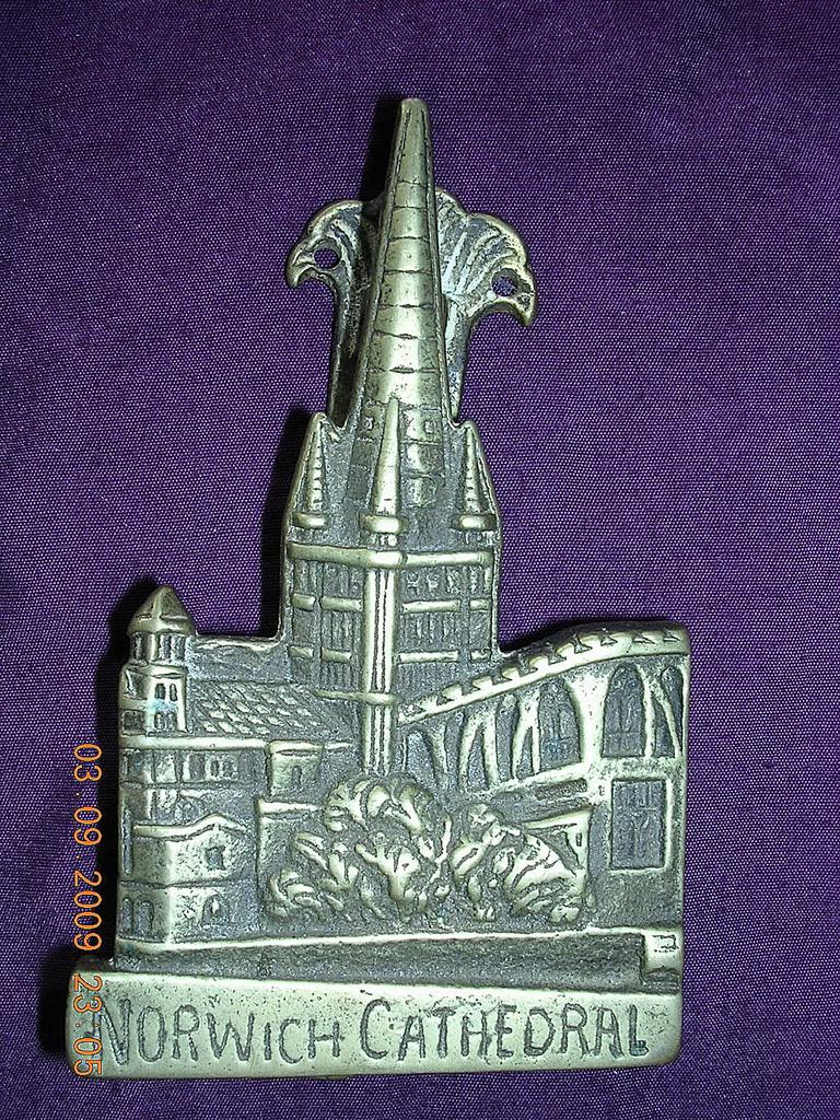 Vintage Small Brass Norwich Cathedral Door Knocker