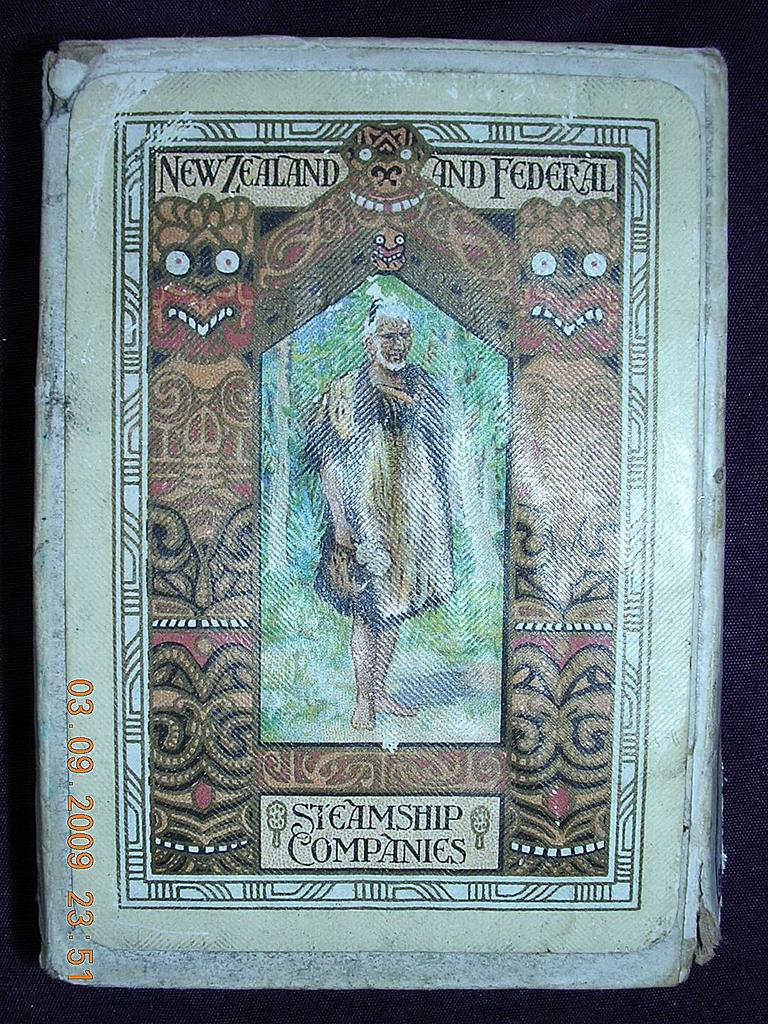 Vintage NZ & Federal Steamship Co Playing Cards