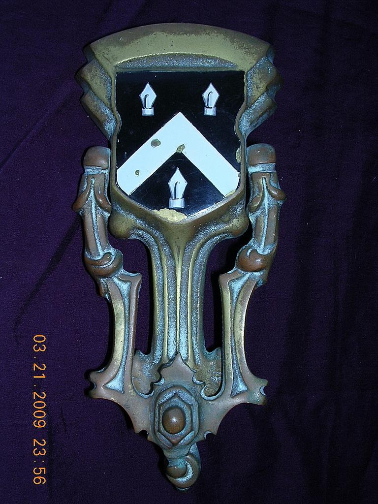 Victorian Crested Brass Door Knocker